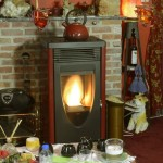 Pelletkachels: MCZ Mercury bordeaux, 8 kW